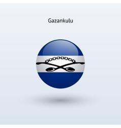 Gazankulu round flag vector image
