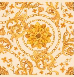 golden baroque rich luxury pattern vector image