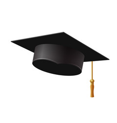 graduation cap on white background vector image