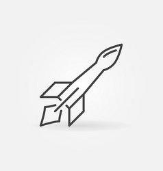 guided missile concept outline icon vector image