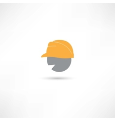 Head in a helmet vector