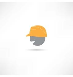 Head in a helmet vector image