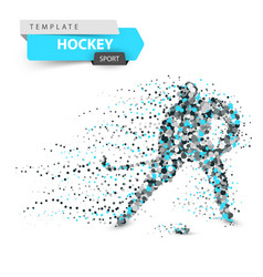 hockey dot template stick and washer vector image