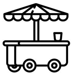 Ice cream kiosk icon outline style vector