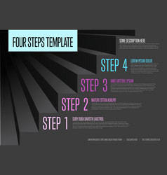 infogrpahic steps diagram template vector image