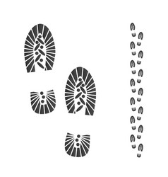 ink shoe imprint silhouette boots footprint vector image