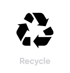 international recycling symbol recycle vector image
