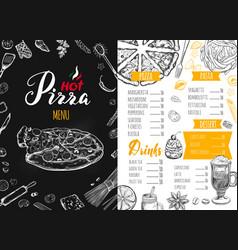 Italian food menu 6 vector
