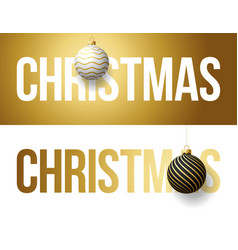 luxury trendy gold typography christmas on a vector image