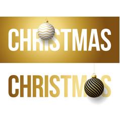 luxury trendy gold typography christmas vector image