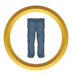 Men pants icon vector