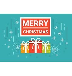 Merry Christmas Concept vector image