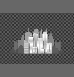 modern city template vector image