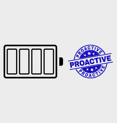 outline electric battery icon and scratched vector image