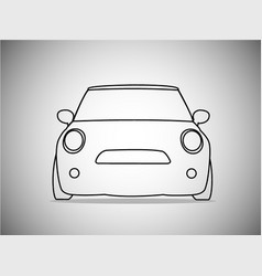 outlines of front classic cars vector image