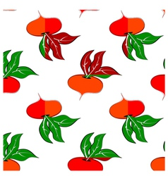 Pattern with colored turnip vector image