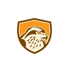 Peregrine falcon head shield retro vector