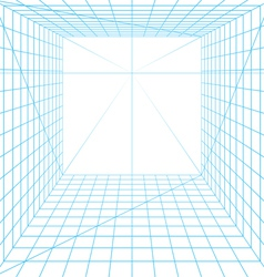 Perspective grid vector image