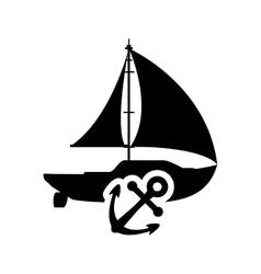 sailboat anchor transportation design vector image