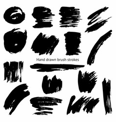 Set of brush strokes vector