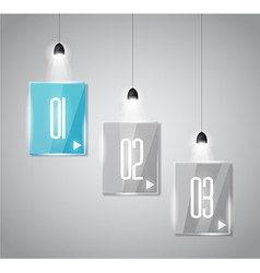 Shelf with 3 spotlights lamp with directional vector image