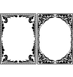 Silhouette decorative borders vector