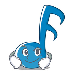 Smirking music note character cartoon vector