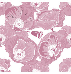 soft seamless floral pattern beautiful and big vector image