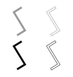 sowull rune sol sun symbol icon set grey black vector image