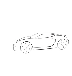 sport car silhouette vector image