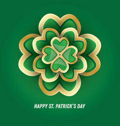 st patricks day 3d clover vector image