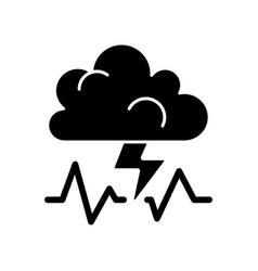 Stress black glyph icon vector