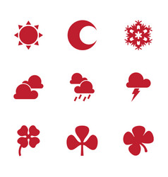summer and winter icon vector image