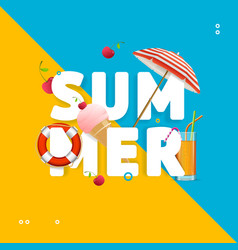 summer concept card travel holiday vector image