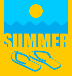 summer landscape abstract beach and slippers sun vector image