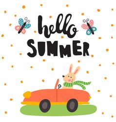 Summer rabbit vector