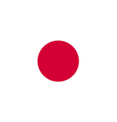 the flag of japan flat style vector image