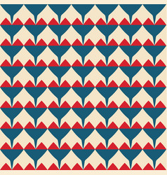 Tile pattern with red and blue hearts background vector