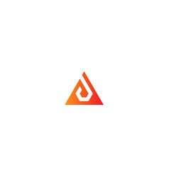 Triangle initial business logo vector