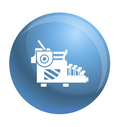 Typewriter icon simple style vector