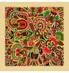 Ukrainian traditional ethnic painting floral vector