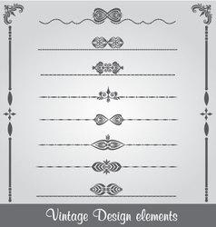 Vintage Line Design vector image