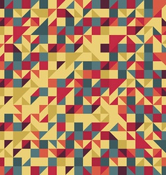 Vintage Red and Brown Pattern vector image