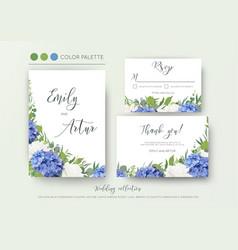 Wedding floral invite invitation save the date vector