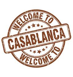 Welcome to casablanca vector