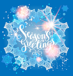 winter snow greeting vector image