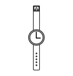 Wrist watch isolated icon design vector