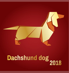 a golden dog vector image vector image