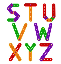 alphabet from constructor from S to Z vector image vector image
