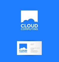 cloud computing logo communication network vector image